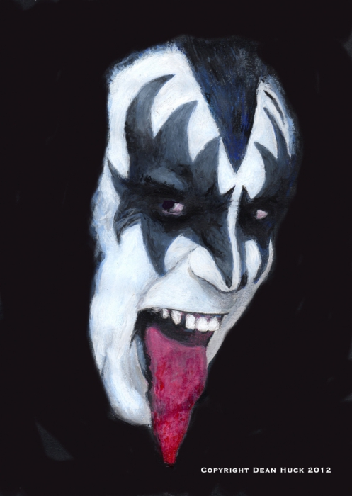 Gene Simmons by DHWallArtist